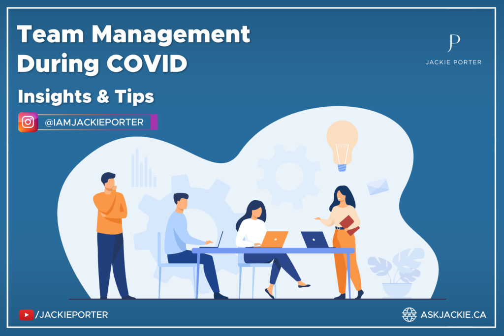 team management during COVID team sitting down together vector