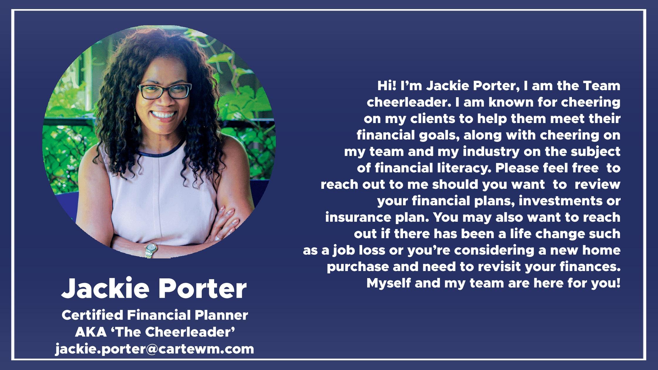 jackie porter cfp in toronto meet jackie jackie porter certified financial planner and financial advisor in toronto meet jackie